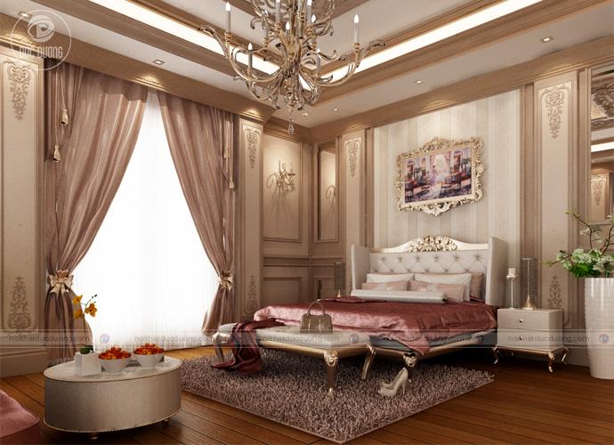 Hình 8: Mẫu giường ngủ cho phong cách cổ điển.