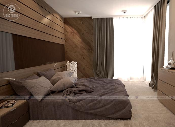 nội thất chủ đạo được làm từ gỗ ÓC chó cao cấp với màu đầy sang trọng