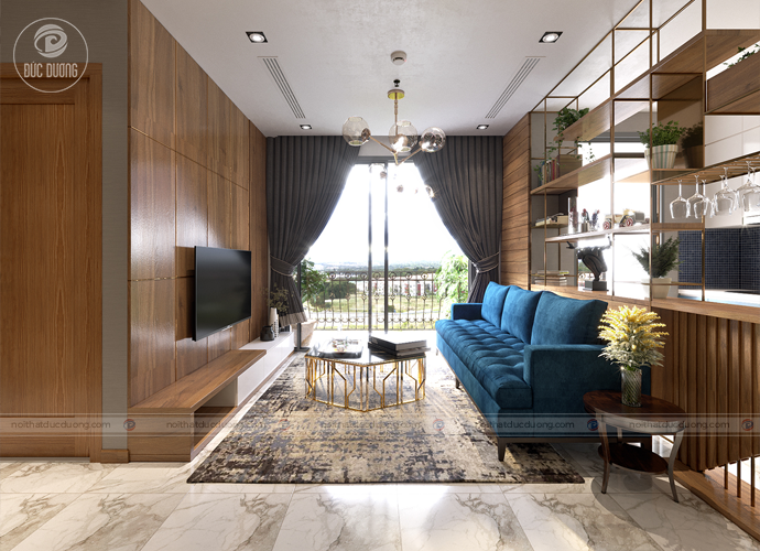 Hình ảnh: Mẫu nội thất phòng khách cho người mệnh Thủy.