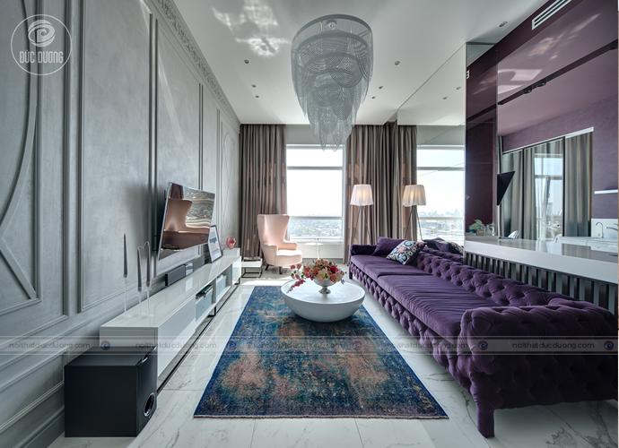 Hình ảnh: Mẫu nội thất phòng khách cho người mệnh Thổ.