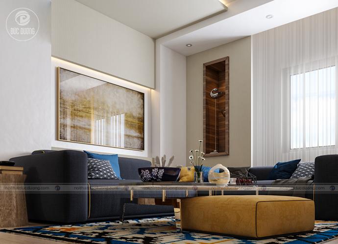 Hình ảnh: Mẫu nội thất phòng khách cho người mệnh Mộc.
