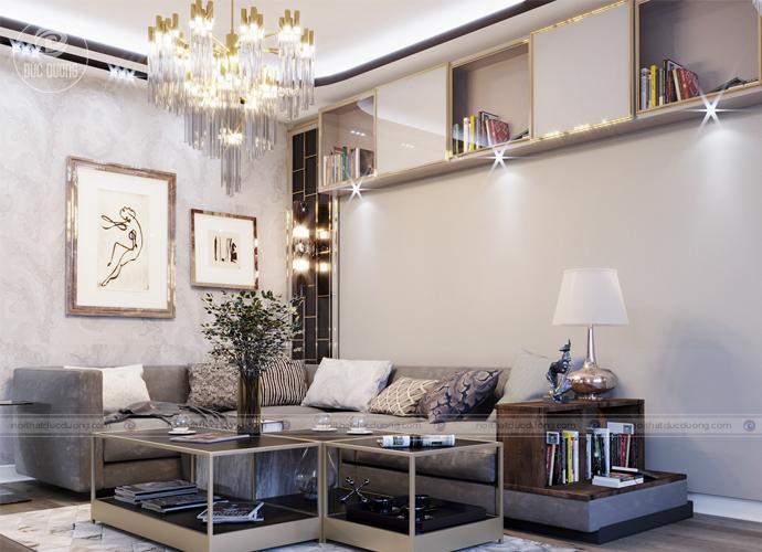 Hình ảnh 3: Mẫu nội thất phòng khách cho người mệnh Kim.