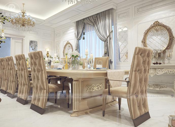 Hình 6: Mẫu hộ bàn ghế ăn theo phong cách thiết kế cổ điển.
