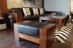 Những mẫu sofa gỗ tuyệt đẹp cho phòng khách