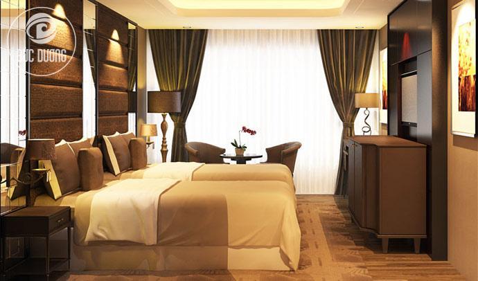 Thi công nội thất khách sạn 3 sao Ravatel Bắc Giang