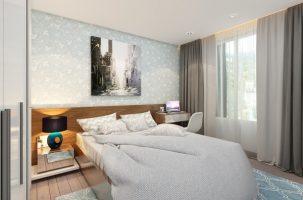 Thiết kế thi công nội thất phòng ngủ chung cư Seasons Avenue chỉ với 40 triệu đồng
