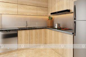 Thiết kế nội thất phòng bếp chung cư Seasons Avenue cực đẹp chỉ với 40 triệu đồng