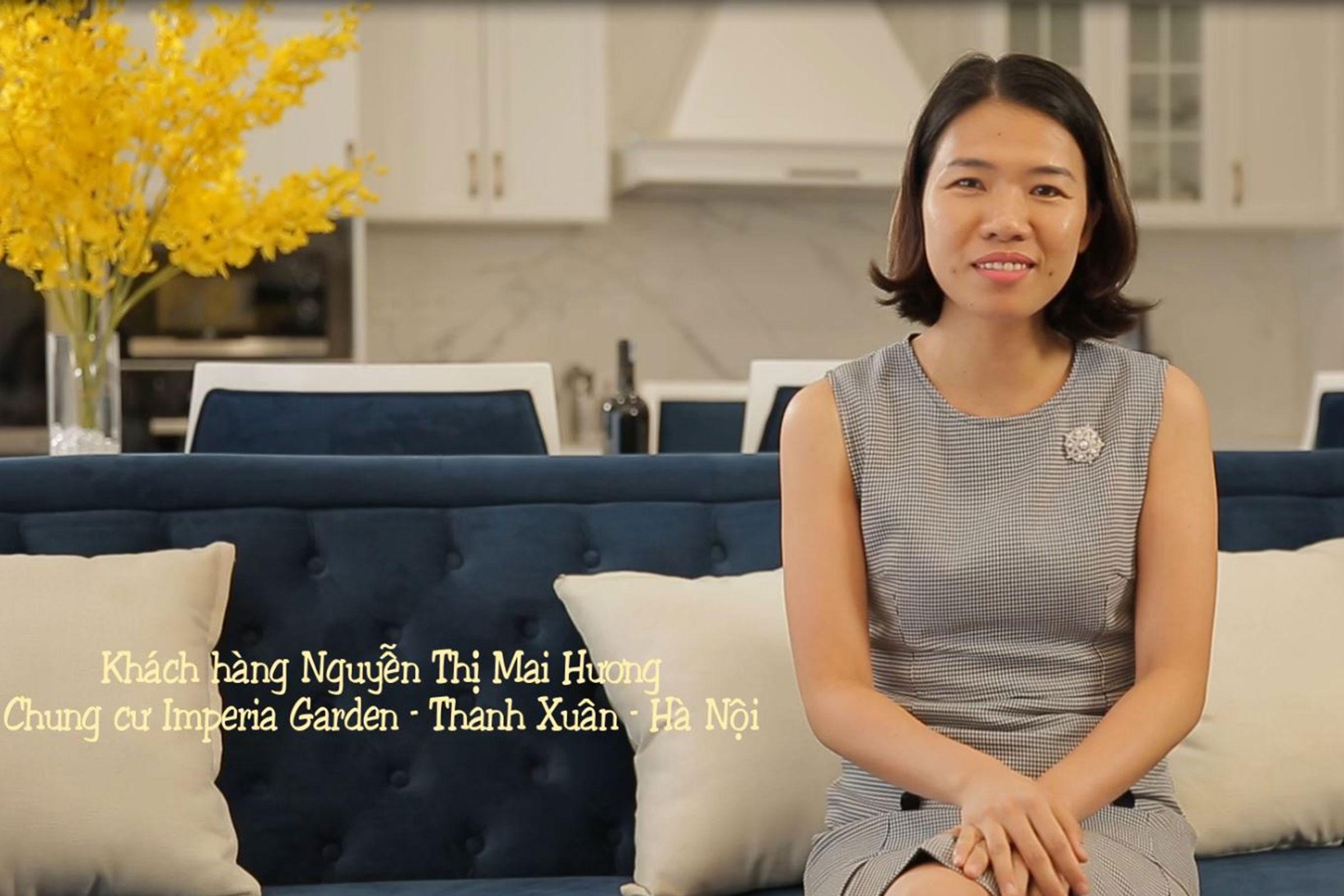 Thiết kế và thi công nội thất căn hộ chị Hương – chung cư Imperia Garden
