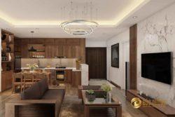 Thiết kế và thi công nội thất căn hộ chú Thuấn – chung cư Imperia Garden
