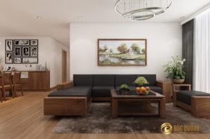 Nội thất gỗ óc chó cao cấp tại căn hộ chị Thảo – chung cư Thống Nhất Complex