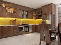 Tủ bếp gỗ óc chó hiện đại cho căn bếp của bạn