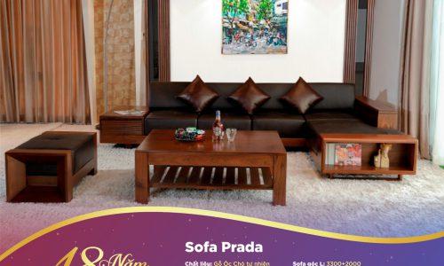 Sofa Prada đáp ứng tiêu chí bề thế, quý phái của một phòng khách biệt thự