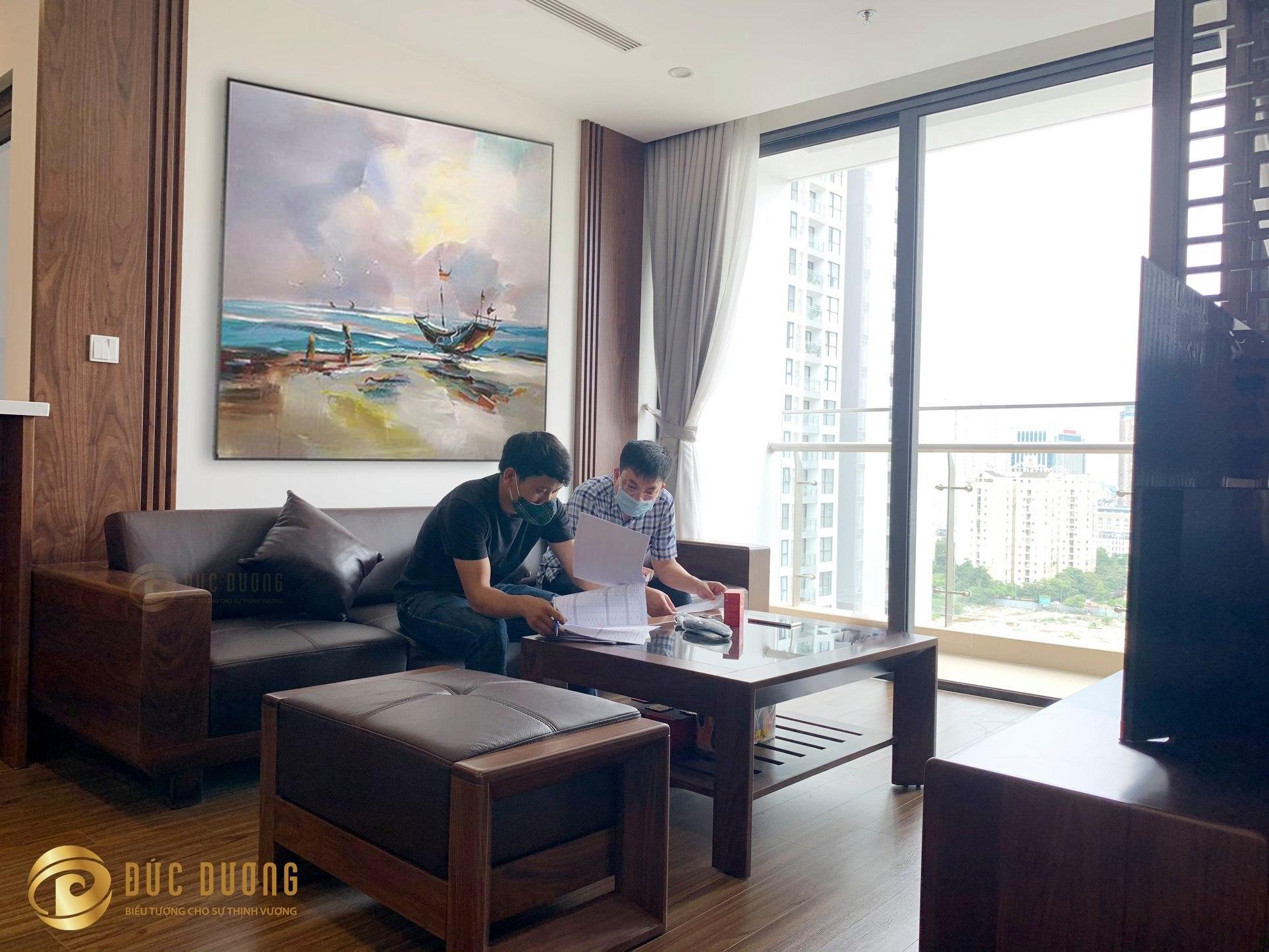 Hoàn thiện thi công nội thất căn hộ chị Linh, Vinhomes West Point️