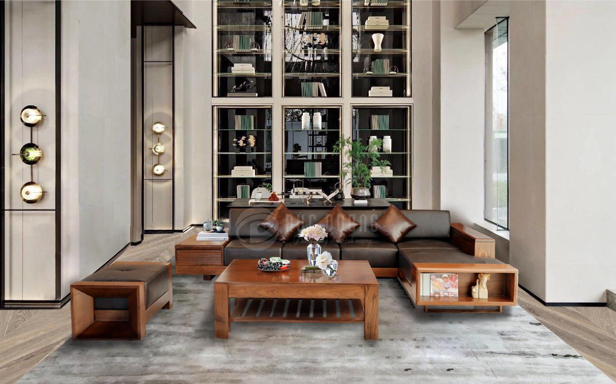 Sofa gỗ óc chó Prada - Nội thất Đức Dương